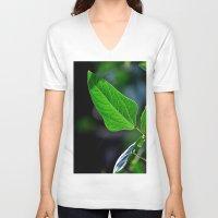 leaf V-neck T-shirts featuring leaf by  Agostino Lo Coco