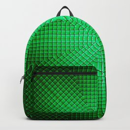 Modern geometric emerald pattern abstract Backpack