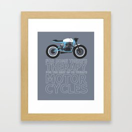 motorcycles Framed Art Print