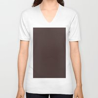 burgundy V-neck T-shirts featuring Old burgundy by List of colors