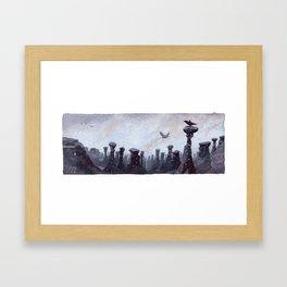 Stone and Sky Framed Art Print