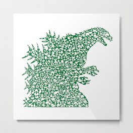 Japanese Monster Metal Print