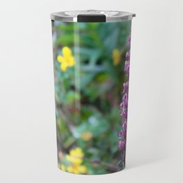 ElephantHead Lousewort Purple WildFlower Travel Mug