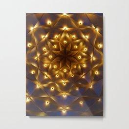 Golden Lights Mandala (Color) Metal Print