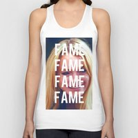 lindsay lohan Tank Tops featuring FAME - LINDSAY LOHAN by Beauty Killer Art