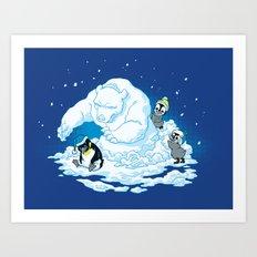 Penguin Jerks Art Print