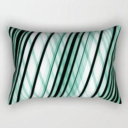 Slanted / Angled Green Lines Rectangular Pillow