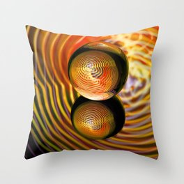 Golden in the crystal ball Throw Pillow