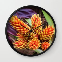 Hawaiian Tropical Elegant Jungle Flower Wall Clock