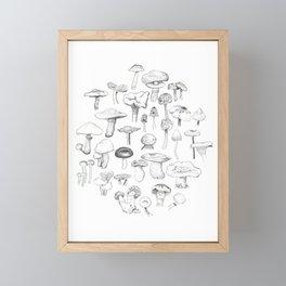 The mushroom gang Framed Mini Art Print