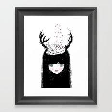 Bambi & moi Framed Art Print