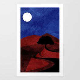 red road Art Print