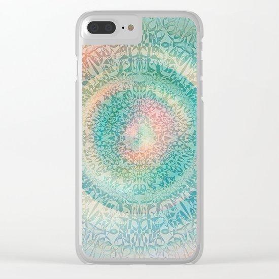 Pastel Mandala 2 Clear iPhone Case