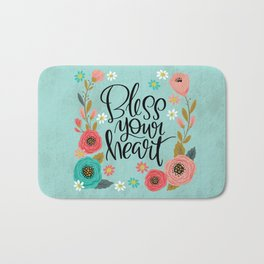 Pretty Not-So-Swe*ry: Bless Your Heart Bath Mat