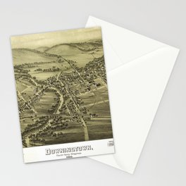 Aerial View of Downington, Pennsylvania (1893) Stationery Cards