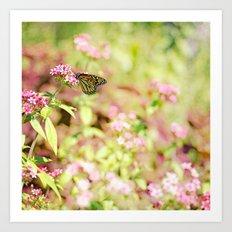 Monarchs make me smile Art Print