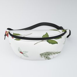 Get to the Poinsettia - Christmas Pine and Berries Fanny Pack