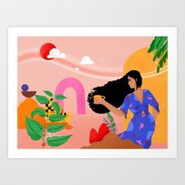 Grateful every morning Art Print