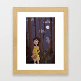 Little Yellow Coat Framed Art Print