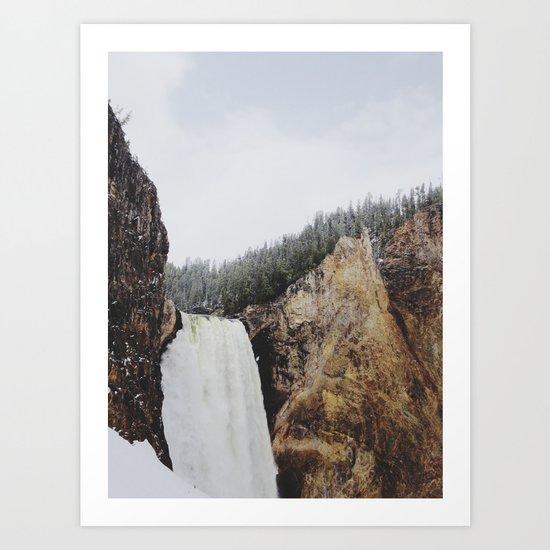 Lower Yellowstone Falls Art Print