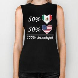 50% Mexican 50% American 100% Beautiful Biker Tank