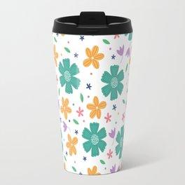 Floral Spring Time Pattern  Travel Mug