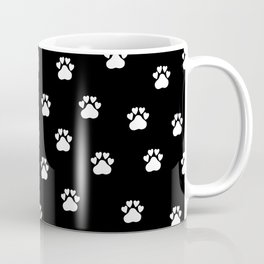 Cat's hand drawn paws in black and white Coffee Mug