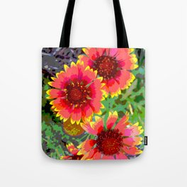 Gerber daisies - pop art nature photography print Tote Bag