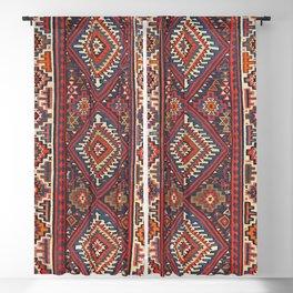 Turkey Kilim Old Century Authentic Colorful Aztec Red Blue Tan Vintage Patterns Blackout Curtain