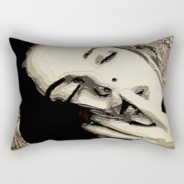 Black and White Passion Rectangular Pillow
