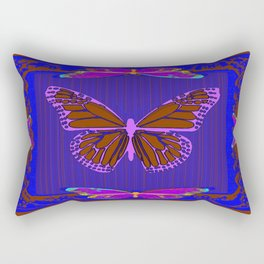 Purple Chocolate Lavender Blue Butterfly Night Abstract Rectangular Pillow