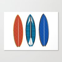 surfboard Canvas Prints featuring SURFBOARD Art by ialbert