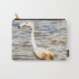 Pretty Flamingo Fledgling Watercolor Carry-All Pouch