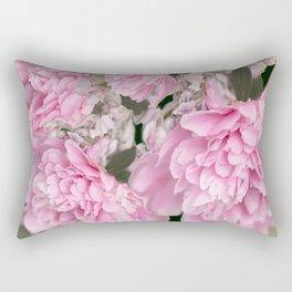 Pink Bouquet On A Black Background  #society6 #buyart Rectangular Pillow