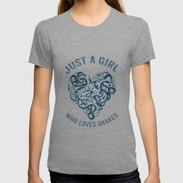 Just A Girl Who Loves Snakes Heart T-shirt