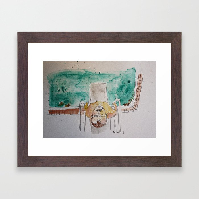 Bill Murray in Rushmore Framed Art Print