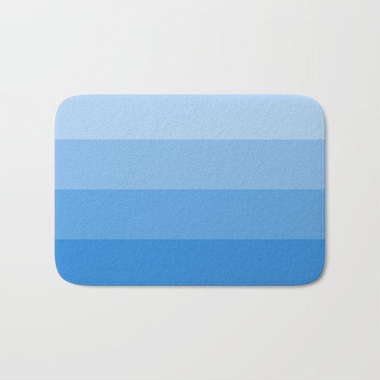 Four Shades of Blue Bath Mat