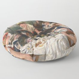 Luncheon of the Boating Party by Renoir Floor Pillow