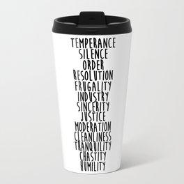 13 Virtues Travel Mug