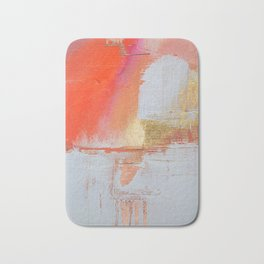 Insight: a minimal, abstract painting in reds and golds by Alyssa Hamilton Art Bath Mat