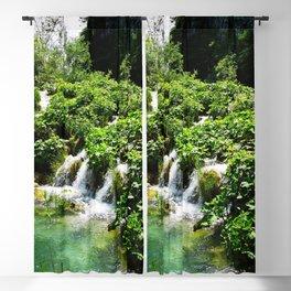 cascades at plitvice lakes national park croatia std Blackout Curtain