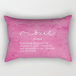 Moxie Definition - Pink Texture Wall Rectangular Pillow