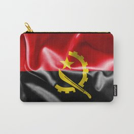 Angola Word With Flag Texture Carry-All Pouch