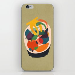 Fruits in wooden bowl iPhone Skin