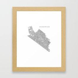 Bushwick, NY Framed Art Print