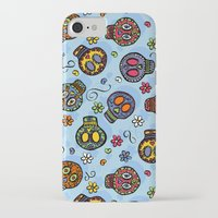 sugar skulls iPhone & iPod Cases featuring Sugar Skulls by Kara Peters