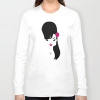amy hamilton Long Sleeve T-shirts featuring Amy by Marco Recuero