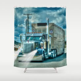 The Cattle Truck Shower Curtain
