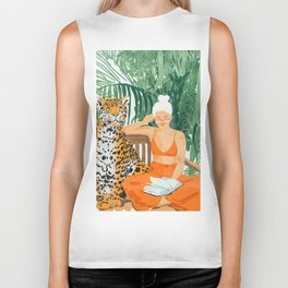 Jungle Vacay #painting #illustration Biker Tank