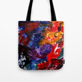 Abstract Fingerpainting Tote Bag
